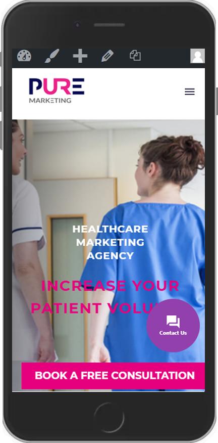 Pure Marketing - Healthcare Website Design - Mobile Phone
